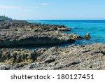 Rocky coast, Coconut Bay, Grand Cayman - stock photo