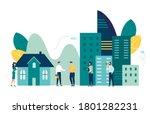 vector illustration  real... | Shutterstock .eps vector #1801282231