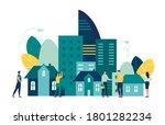 vector illustration  real... | Shutterstock .eps vector #1801282234
