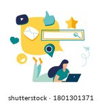 vector colorful illustration of ... | Shutterstock .eps vector #1801301371