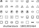 wash sign clothes care symbols... | Shutterstock .eps vector #1801301464