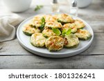 Small photo of Baked courgette with cheese and basil