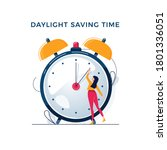 daylight saving time... | Shutterstock .eps vector #1801336051