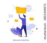 man holding folder. concept of... | Shutterstock .eps vector #1801340071