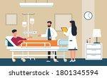 hospital room. doctor in... | Shutterstock .eps vector #1801345594