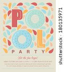 pool or beach party invitation... | Shutterstock .eps vector #180135971
