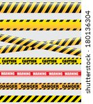 caution design over white... | Shutterstock .eps vector #180136304