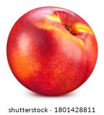 Red Peach Isolated On White....
