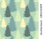 seamless pattern with spruce... | Shutterstock . vector #180143309