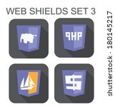 vector collection of php web... | Shutterstock .eps vector #180145217