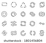 update set line icons in flat...   Shutterstock .eps vector #1801456804