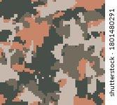 digital pixel camouflage... | Shutterstock .eps vector #1801480291