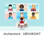 dark skin female teacher at the ...   Shutterstock .eps vector #1801481047