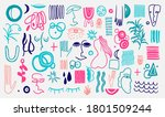 abstract form drawing style... | Shutterstock .eps vector #1801509244