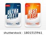 Best Clean Detergent Labels Set ...