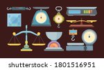 weigher large set. manual for... | Shutterstock .eps vector #1801516951