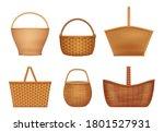 Wicker Basket. Handcraft...