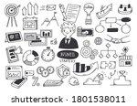 business strategy doodle set... | Shutterstock .eps vector #1801538011