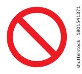 no entry road sign vector... | Shutterstock .eps vector #1801541371