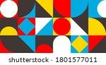 abstract bauhaus style... | Shutterstock .eps vector #1801577011