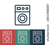 linear vector icon with washing ...