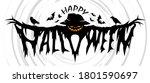 happy halloween text design ... | Shutterstock .eps vector #1801590697
