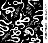 seamless pattern with snakes ...   Shutterstock .eps vector #1801600774