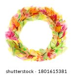 autumnal  leaves circle frame ... | Shutterstock . vector #1801615381