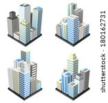 vector set of buildings. | Shutterstock .eps vector #180162731