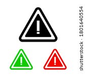 attention icon. attention sign. ... | Shutterstock .eps vector #1801640554