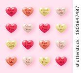 simple 3d heart icons with...