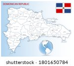 detailed map of dominican... | Shutterstock .eps vector #1801650784