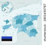 blue green detailed map of... | Shutterstock .eps vector #1801650787