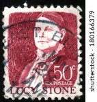 Small photo of UNITED STATES OF AMERICA - CIRCA 1965: a stamp printed in the United States of America shows Lucy Stone, American abolitionist and suffragist, circa 1965