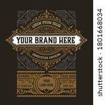 old  label design for whiskey...   Shutterstock .eps vector #1801668034