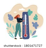 flat vector of carefree young... | Shutterstock .eps vector #1801671727