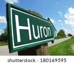 huron signpost along a rural... | Shutterstock . vector #180169595