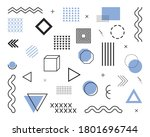 geometric elements from 80s and ... | Shutterstock .eps vector #1801696744