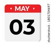 3 may calendar icon  vector...   Shutterstock .eps vector #1801704697