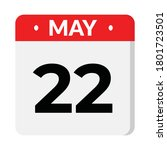 may 22 flat style calendar icon ... | Shutterstock .eps vector #1801723501