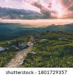 Amazing Mountain Landscape With ...