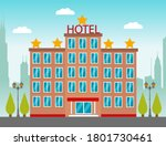 hotel building in city space on ...   Shutterstock .eps vector #1801730461