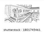 building view with landmark of... | Shutterstock .eps vector #1801745461