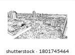 building view with landmark of... | Shutterstock .eps vector #1801745464