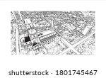building view with landmark of... | Shutterstock .eps vector #1801745467