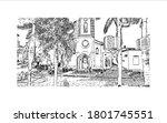building view with landmark of... | Shutterstock .eps vector #1801745551