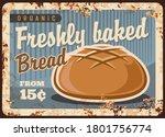 round wheat bread rusty metal... | Shutterstock .eps vector #1801756774