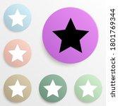 star badge color set. simple...