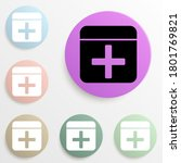 first aid kit badge color set....