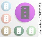 playing card  peak three cards...